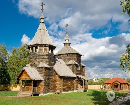 The Museum of Wooden Masterpieces in the ancient town of Suzdal